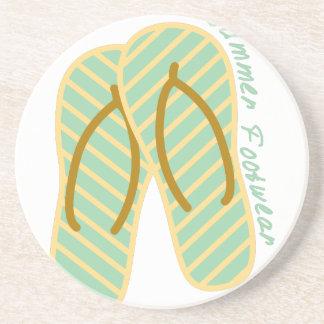 Calzado del verano posavasos personalizados