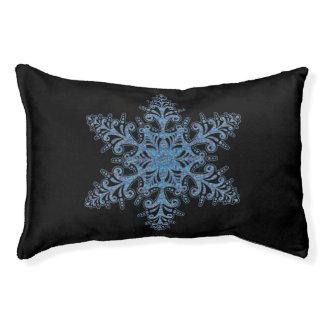 Cama azul del perro del copo de nieve cama para perro pequeño