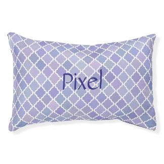 Cama azul personalizada del perro del mosaico del cama para perro pequeño