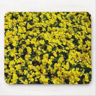 Cama de flor de oro alfombrillas de ratones