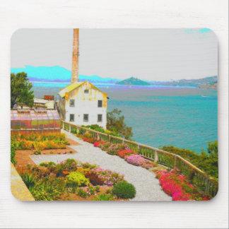 Cama de flor en el cojín de ratón de Alcatraz Alfombrillas De Raton