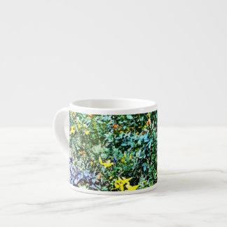 Cama de flor en el jardín de Monet Taza Espresso