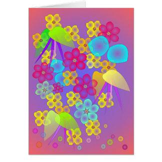 Cama de flor tarjeta de felicitación