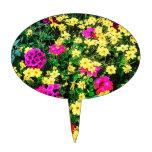 Cama de flor vibrante decoraciones de tartas