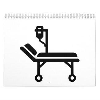 Cama de hospital calendarios