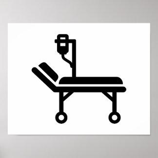 Cama de hospital impresiones