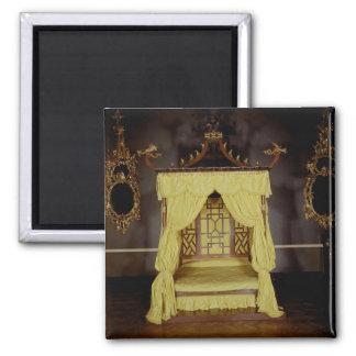 Cama de la cama imperial, en el estilo chino, 1750 imán para frigorifico