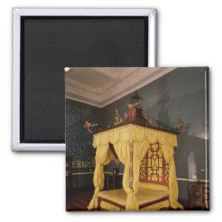 Cama de la cama imperial, en el estilo chino, 1750 imán para frigorífico