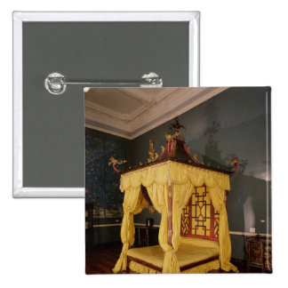 Cama de la cama imperial, en el estilo chino, 1750 pins
