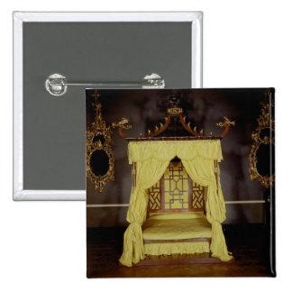 Cama de la cama imperial, en el estilo chino, 1750 pin