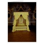 Cama de la cama imperial, en el estilo chino, 1750 tarjeta de felicitación