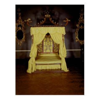 Cama de la cama imperial, en el estilo chino, 1750 tarjetas postales