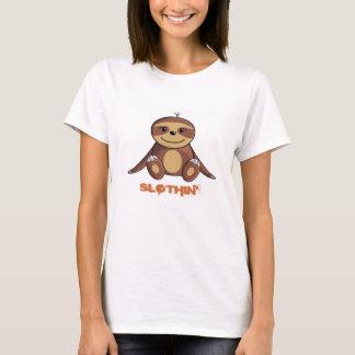 Cama de la pereza/camiseta el gandulear para mujer playera