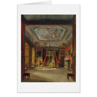 Cama de la reina Anne, castillo de Windsor, de 'Re Tarjeta De Felicitación