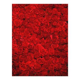 Cama de rosas rojos plantillas de membrete