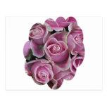 Cama de rosas tarjeta postal