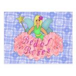 Cama de rosas tarjetas postales