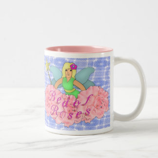 Cama de rosas tazas de café
