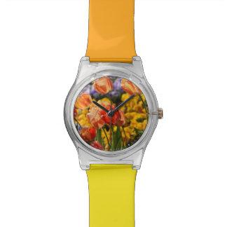 cama de tulipán reloj