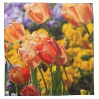 cama de tulipán servilleta imprimida
