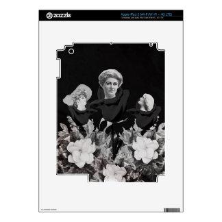 Cama del negro de la mujer del vintage iPad 3 pegatina skin