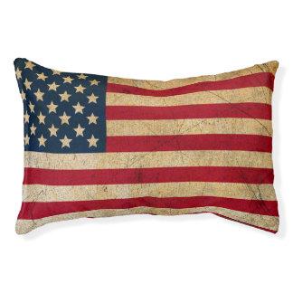Cama del perro de la bandera americana del vintage
