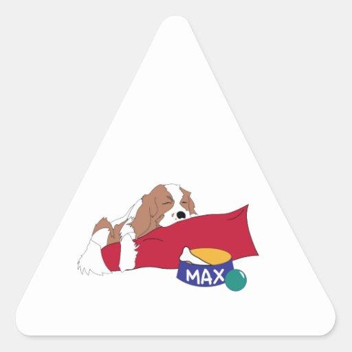 Cama del perro pegatina triangular