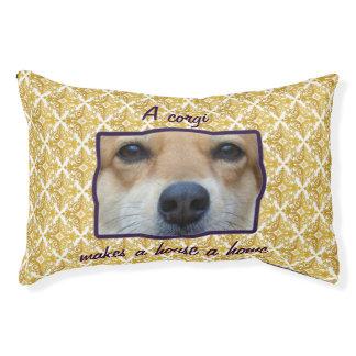 Cama linda del perro de la foto del corgi cama para perro pequeño