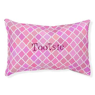 Cama rosada personalizada del perro del mosaico cama para perro pequeño