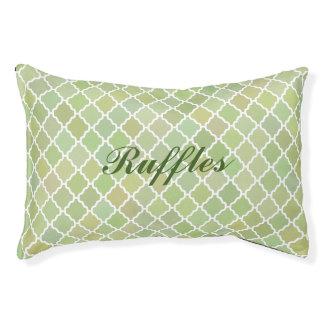 Cama verde personalizada del perro del mosaico cama para perro pequeño
