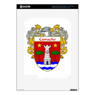 Camacho Coat of Arms/Family Crest Decals For iPad 3