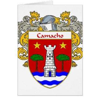 Camacho Coat of Arms/Family Crest (Mantled) Card