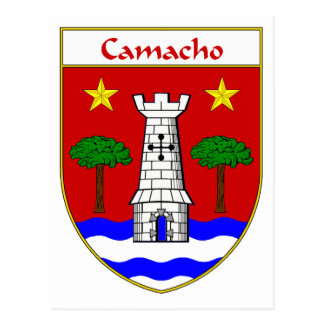 Camacho Coat of Arms/Family Crest Postcard