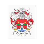 Camacho Family Crest Gallery Wrap Canvas