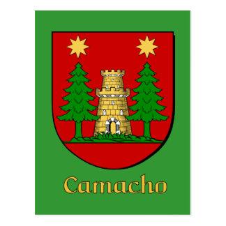 Camacho Family Heraldic Shield Postcard