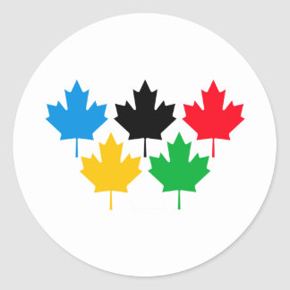 Camada Maple Leaf Classic Round Sticker
