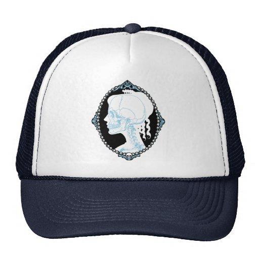 Camafeo azul bonito del cráneo gorra