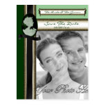 Camafeo clásico (jade/verde) (boda) postal