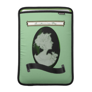 Camafeo clásico (jade/verde) funda macbook air