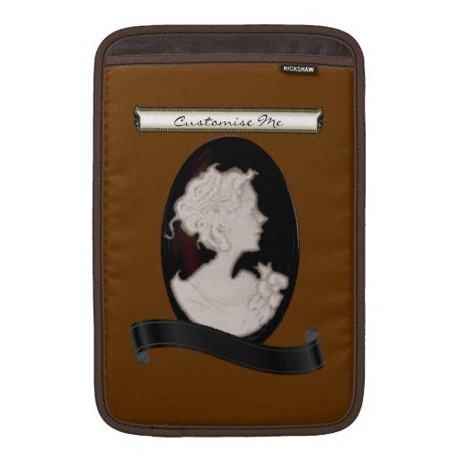 Camafeo clásico (marfil/Brown) Fundas Para Macbook Air