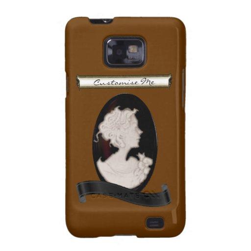 Camafeo clásico (marfil/Brown) Galaxy S2 Fundas