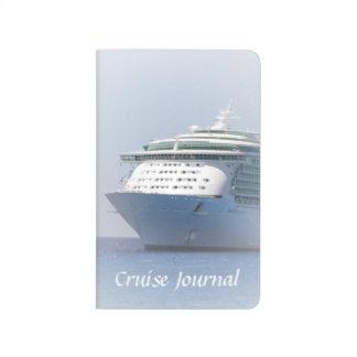 Camafeo del barco de cruceros cuaderno grapado