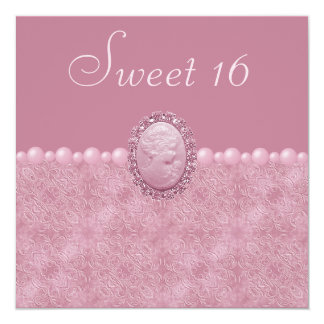 Camafeo del vintage y dulce rosados 16 de las anuncio