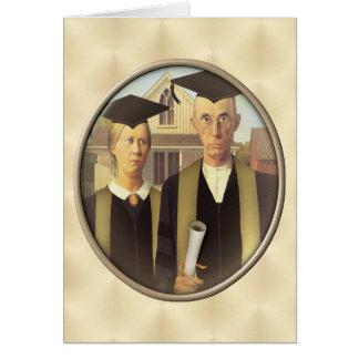 Camafeo gótico americano de la graduación en el tarjeta de felicitación
