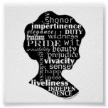 Camafeo literario de Austen Poster