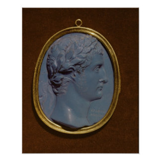 Camafeo que lleva el perfil de Tiberius Póster