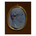 Camafeo que lleva el perfil de Tiberius Posters