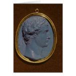 Camafeo que lleva el perfil de Tiberius Tarjeta