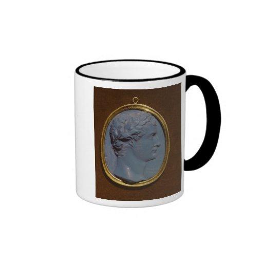 Camafeo que lleva el perfil de Tiberius Taza De Café
