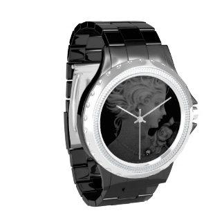 Camafeo romántico elegante gótico reloj